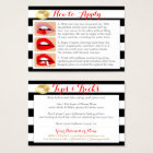 Gold Kisses on Black and White - Apply & Tips Card