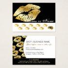 Gold Kisses on Black - Lipstick Loyalty Rewards Business Card