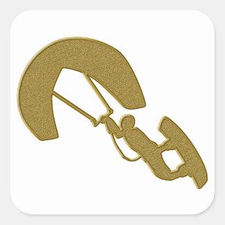 Gold Kitesurfing Sticker