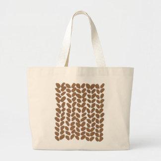 Gold knitting bag