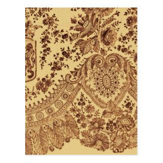 Gold Lace Flowers Postcard