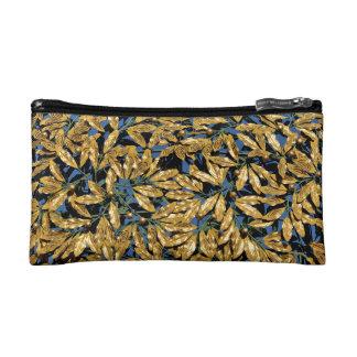 Gold Laurel Leaves Cosmetic Bag