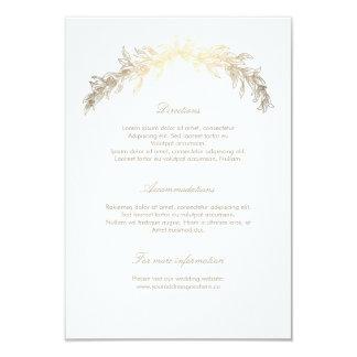 Gold Laurel Wedding Details Insert Card
