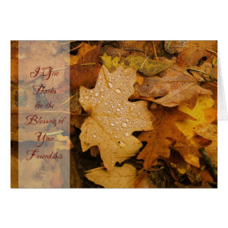 Gold Leaf (2) Thanksgiving Card
