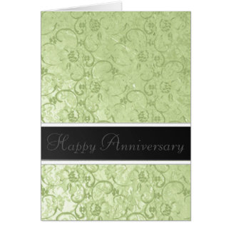 Gold Leaf Anniversary Greeting Card
