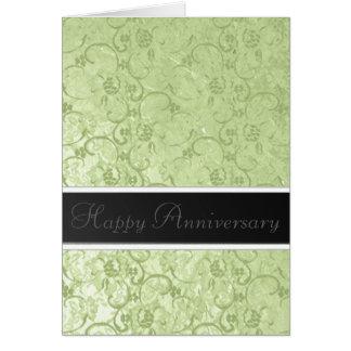 Gold Leaf Anniversary Greeting Card