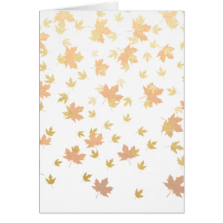 Gold Leaf Confetti on Clear Background Card