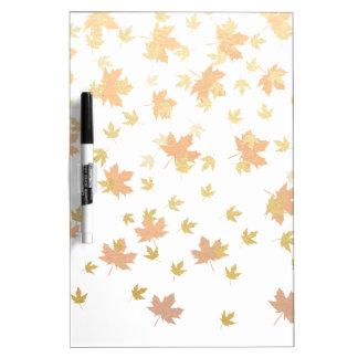 Gold Leaf Confetti on Clear Background Dry Erase Board