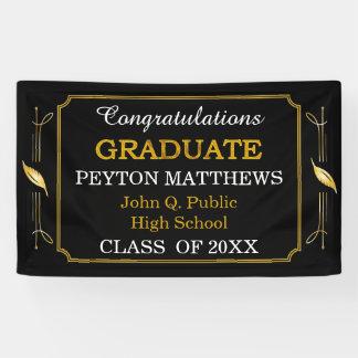 Gold Leaf Congratulations Graduate 2017 Banner