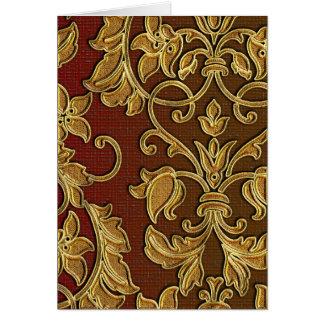 Gold Leaf Damask Colors of Tuscany Card