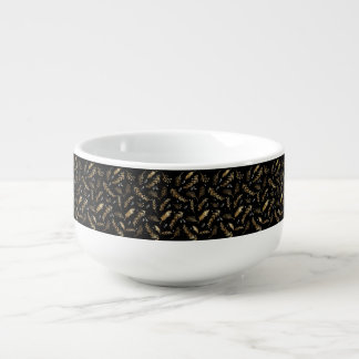 GOLD LEAF DESIGN SOUP MUG