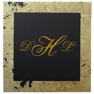 Gold Leaf Monogram Napkin