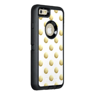 Gold leaf photo polka dots OtterBox iPhone 6/6s plus case