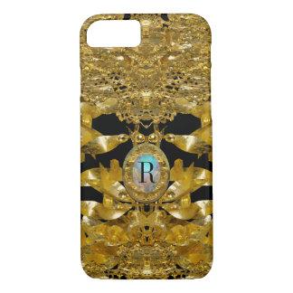 Gold Leaf Raphael Monogram iPhone 7 Case