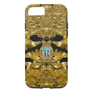 Gold Leaf Raphael Monogram iPhone 7 Case