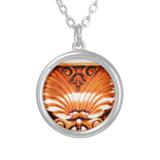 Gold_leaf_seashell_pattern.JPG Silver Plated Necklace