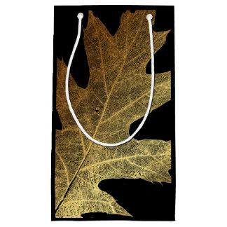 Gold Leaf Skeleton Metallic Minimal Vip Bag