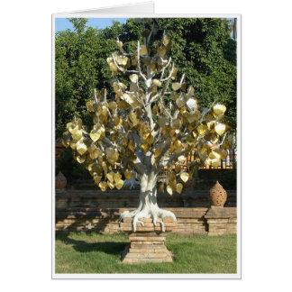 Gold Leaf Tree Card