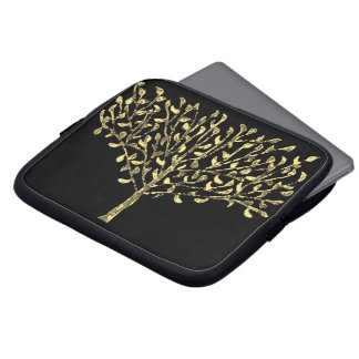 Gold Leaf Tree Laptop Sleeve