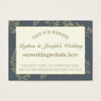 Gold Leaf Woodland Wedding Information Insert