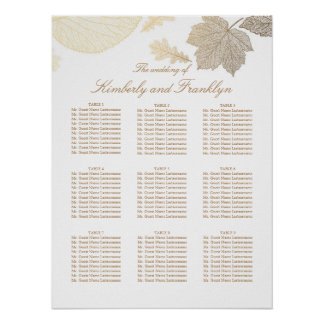 Wedding Seating Chart posters