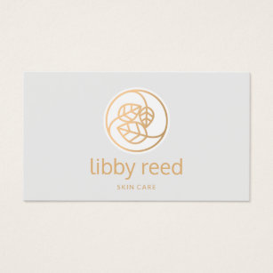 Esthetician business cards business card printing zazzle ca gold leaves logo esthetician business card colourmoves