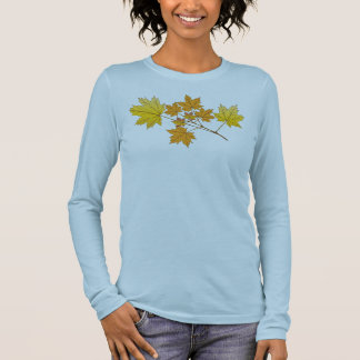 Gold Leaves Long Sleeve T-Shirt