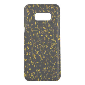 Gold leaves with black back ground uncommon samsung galaxy s8 plus case