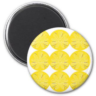 Gold lemons on white magnet