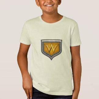 Gold Letter W Shield Retro T-Shirt
