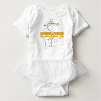 gold lieutenant commander, tony fernandes baby bodysuit