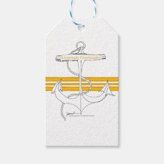 gold lieutenant commander, tony fernandes gift tags