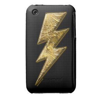Gold Lightning Bolt Blackberry Cases