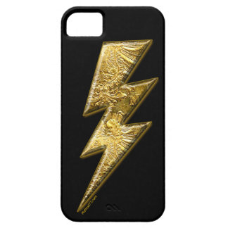 Gold Lightning Bolt iPhone 5 Cases