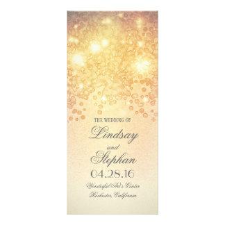 Gold Lights Glamour Vintage wedding programs Rack Card