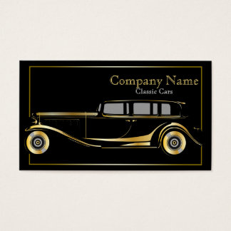 Gold Limo Classic Cars Business Card