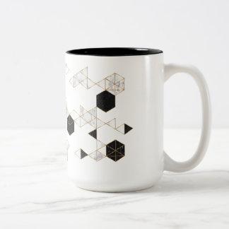 gold lines mug