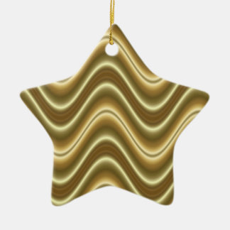 gold lines pattern ceramic ornament