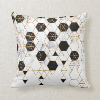gold lines Pillow