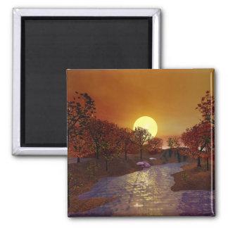 Gold Linger - Autumn Scene Magnet