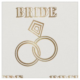 Gold Linked Rings Bride Wedding Fabric
