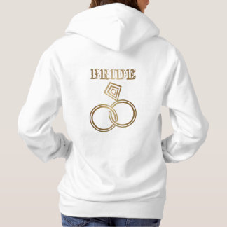 Gold Linked Rings Bride Wedding Hoodie
