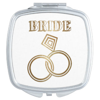 Gold Linked Rings Bride Wedding Makeup Mirrors