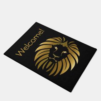 Gold Lion Customizable Doormat