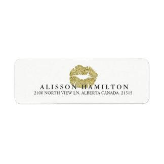 Gold Lips | Personalized Return Address