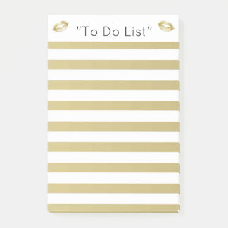 "Gold Lips ""To Do List"" Post-it Notes"