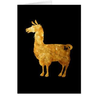 Gold Llama Greeting Card