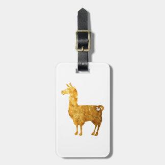Gold Llama Luggage Tag