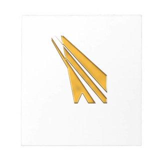 gold logo notepad