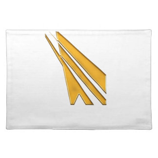 gold logo placemat